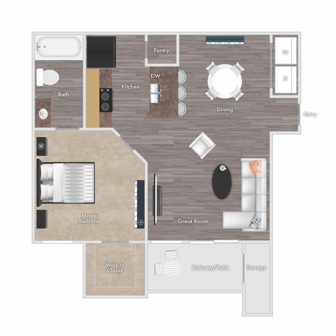 Spacious Apartment Floor Plans In